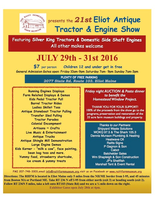 2016 Tractor Show flyer